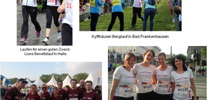 Bilder von den Connex-Teilnehmern bei Firmenläufen 2015